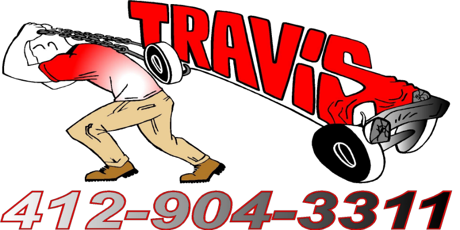 Travis Towing Pittsburgh logo and assorted pictures